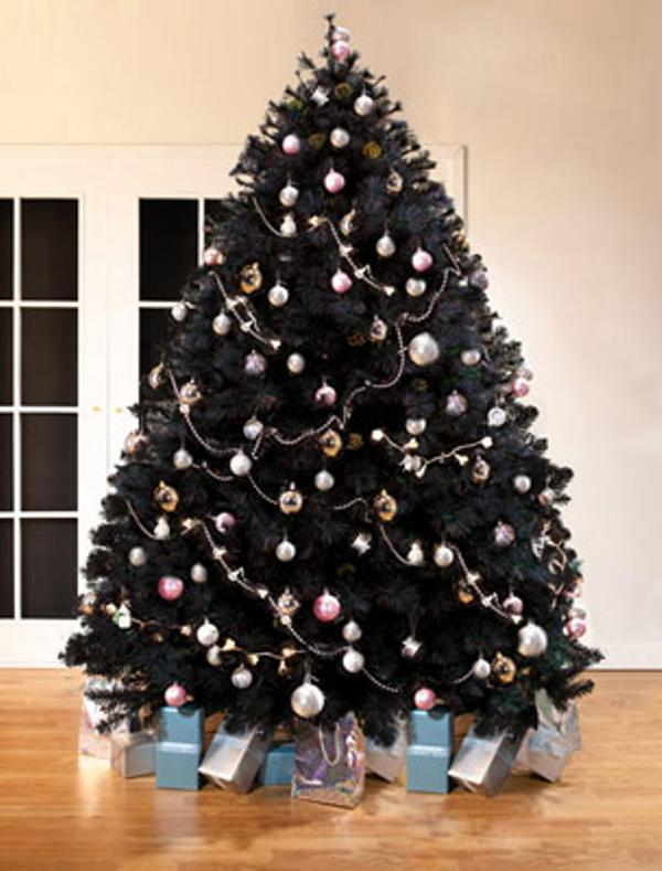 6 black christmas tree
