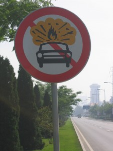 1. Carry explosives in your car is prohibited!