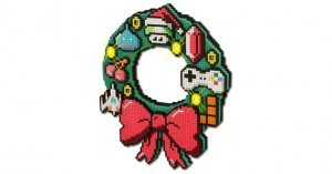 8-bit LED Holiday Wreath