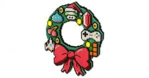 8-bit LED Holiday Wreath