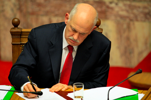 Greece Prime Minster George Papandreou resigns