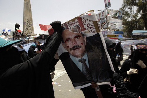 Protests against Yemeni President Abdul Saleh