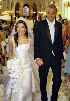 Eva Longoria and Tony Parker Romantic Wedding-06