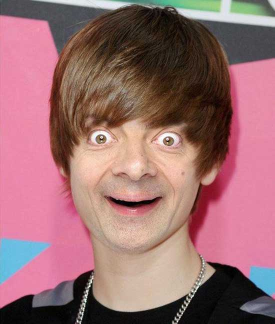 Mr. Bean as Justin Bieber-09