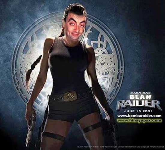 Mr. Bean as Lara Croft of Tomb Raider-04