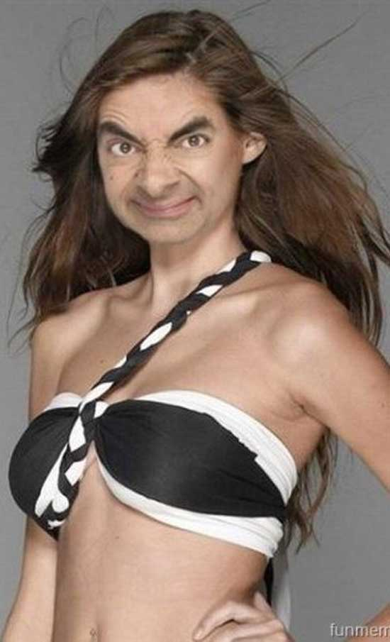 Mr. Bean as sexy fashion model-06