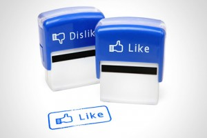 Actual 'Like' and 'Dislike' Stamps