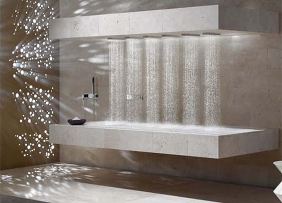 10. Horizontal Shower