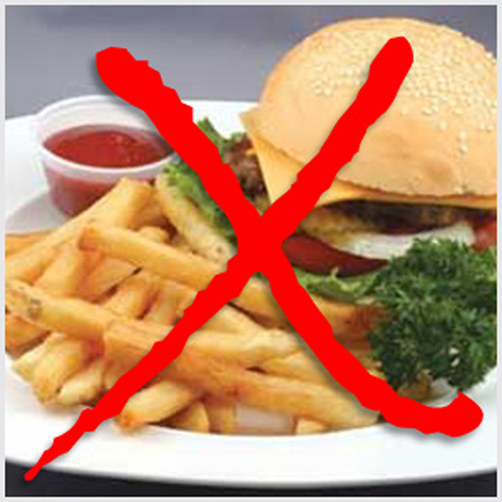 5. Food that has to be avoided