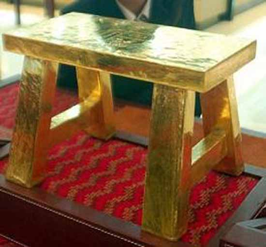 6. Solid Gold Stool-$1.3 million