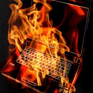overheated laptop