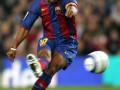 FC Barcelona's Brazilian Ronaldinho shoo