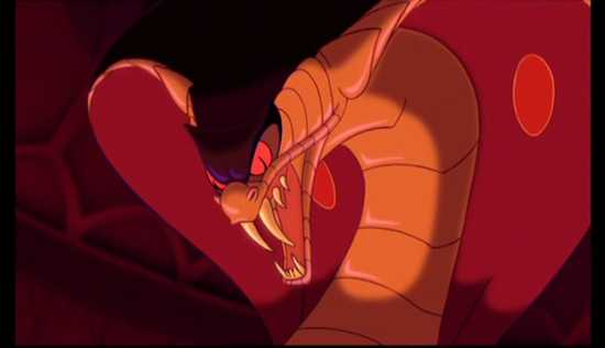 10 most scary disney monsters creatures - Serpent aladin ...